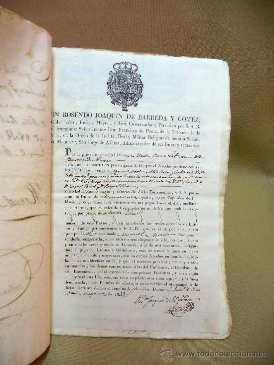 Manuscritos antiguos: DOCUMENTO, MANUSCRITO DE PROPIEDAD, 1819, MARIANO PEREZ, 20 PAG, PICASENT, VALENCIA, - Foto 3 - 28659939