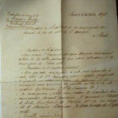 Manuscritos antiguos: 527 FERROCARRIL DE LINARES A ALMERIA - RARISIMA CARTA MANUSCRITA AÑO 1898 PARIS FRANCIA. Lote 55018077