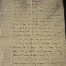 Manuscritos antiguos: 1788. SAMPEDOR VIC VICH PROPUESTA AL OBISPO DE VIC PROVISION DE PLAZA VACANTE SANTPEDOR SAMPEDOR. Lote 28713931