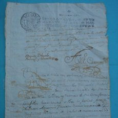Manuscritos antiguos: MANUSCRITO DE 25-II-1786, SELLO CUARTO, VEINTE MARAVEDÍES. DIM.- 31X21,5 CMS.. Lote 28726009