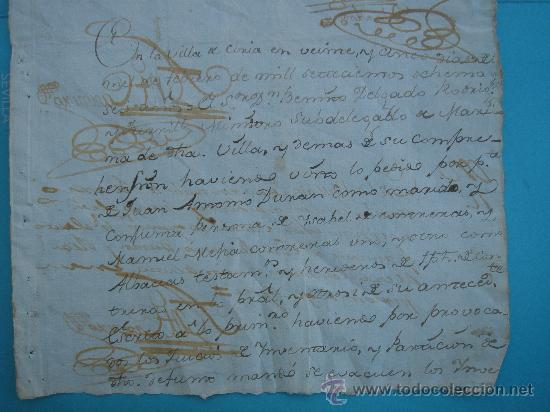 Manuscritos antiguos: DETALLE DEL DOCUMENTO - Foto 4 - 28726009