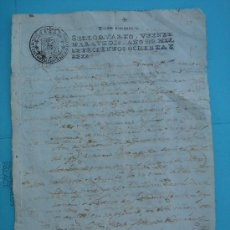 Manuscritos antiguos: MANUSCRITO DE 1786, SELLO CUARTO, VEINTE MARAVEDÍES. DIM.- 31X21,5 CMS.. Lote 28726252
