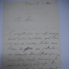 Manuscritos antiguos: CARLISMO. CARTA MANUSCRITA CON FIRMA DE PEDRO SOUZA HOLSTEIN , MARQUES Y DUQUE DE PALMELLA.. Lote 28734531