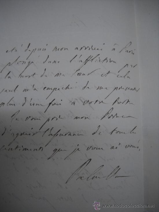 Manuscritos antiguos: CARLISMO. CARTA MANUSCRITA CON FIRMA DE PEDRO SOUZA HOLSTEIN , MARQUES Y DUQUE DE PALMELLA. - Foto 3 - 28734531