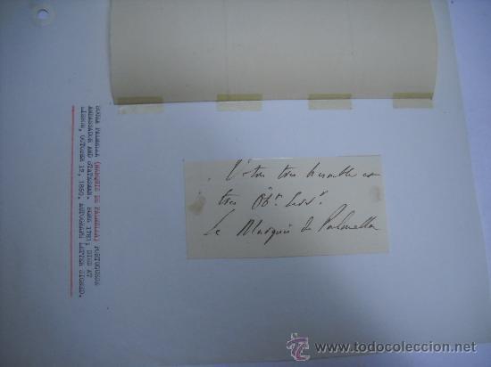 Manuscritos antiguos: CARLISMO. CARTA MANUSCRITA CON FIRMA DE PEDRO SOUZA HOLSTEIN , MARQUES Y DUQUE DE PALMELLA. - Foto 4 - 28734531