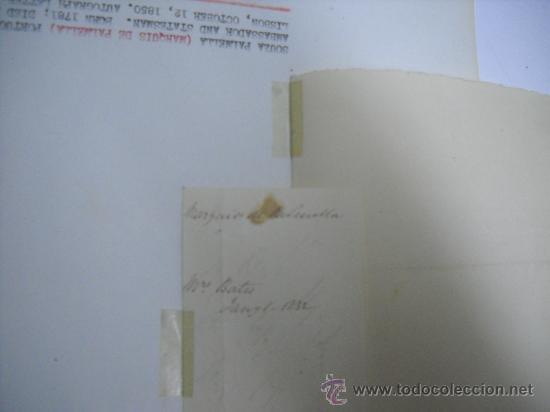 Manuscritos antiguos: CARLISMO. CARTA MANUSCRITA CON FIRMA DE PEDRO SOUZA HOLSTEIN , MARQUES Y DUQUE DE PALMELLA. - Foto 5 - 28734531