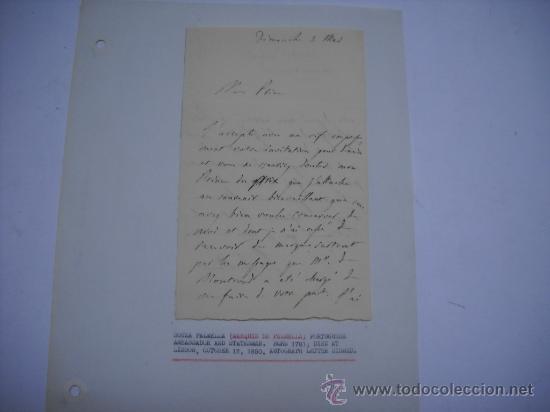 Manuscritos antiguos: CARLISMO. CARTA MANUSCRITA CON FIRMA DE PEDRO SOUZA HOLSTEIN , MARQUES Y DUQUE DE PALMELLA. - Foto 7 - 28734531