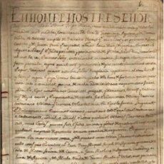 Manuscritos antiguos: 1556 VALENCIA DOCUMENTO MANUSCRITO PERGAMINO EN VALENCIANO 1655 MANUSCRITO PERGAMINO EN LATIN . Lote 28737586
