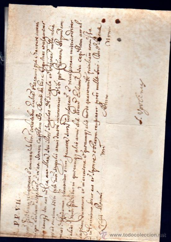 Manuscritos antiguos: BULA PAPAL EXPEDIDA POR LA CANCILLERÍA APOSTÓLICA, PAPA ALEXANDER VII, 1655-1667, SIENA, TOSCANA - Foto 2 - 28757303