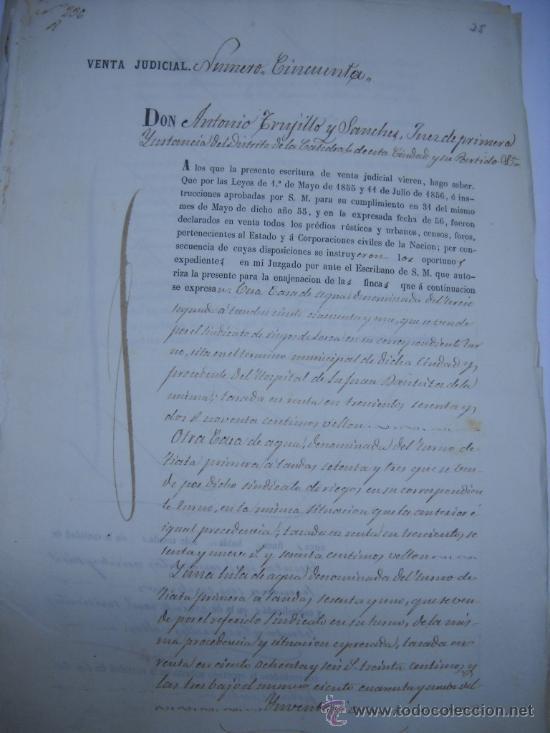 MANUSCRITO PROVINCIA DE MURCIA (LORCA) 28 ESCRITURAS 14 IMPRESOS DE PAPEL DE PAGOS EL ESTADO 1859 (Coleccionismo - Documentos - Manuscritos)