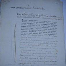 Manuscritos antiguos: MANUSCRITO PROVINCIA DE MURCIA (LORCA) 28 ESCRITURAS 14 IMPRESOS DE PAPEL DE PAGOS EL ESTADO 1859. Lote 28761678