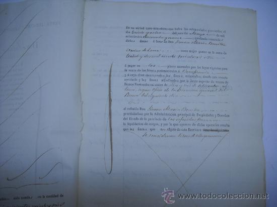 Manuscritos antiguos: MANUSCRITO PROVINCIA DE MURCIA (LORCA) 28 ESCRITURAS 14 IMPRESOS DE PAPEL DE PAGOS EL ESTADO 1859 - Foto 2 - 28761678