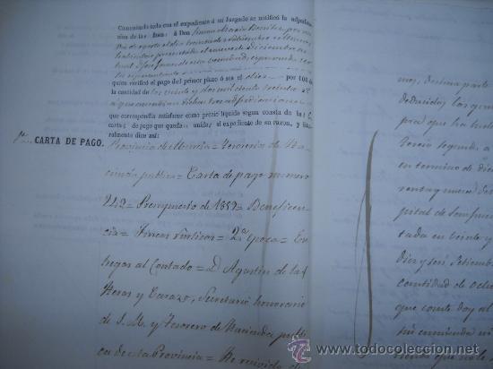 Manuscritos antiguos: MANUSCRITO PROVINCIA DE MURCIA (LORCA) 28 ESCRITURAS 14 IMPRESOS DE PAPEL DE PAGOS EL ESTADO 1859 - Foto 3 - 28761678