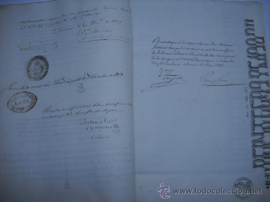 Manuscritos antiguos: MANUSCRITO PROVINCIA DE MURCIA (LORCA) 28 ESCRITURAS 14 IMPRESOS DE PAPEL DE PAGOS EL ESTADO 1859 - Foto 4 - 28761678