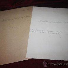 Manuscritos antiguos: CARPETA CON DOCUMENTOS MANUSCRITOS DE ADOLFO BONILLA Y SAN MARTÍN. PROCEDE DE ARCHIVO PRIVADO. Lote 28886445