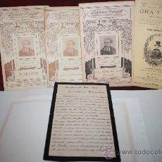 Manuscritos antiguos: CARPETA CON MANUSCRITO Y DOCUMENTOS DE FEDERICO SOLER-SERAFÍ PITARRA. PROCEDE ARCHIVO PRIVADO. Lote 28887196