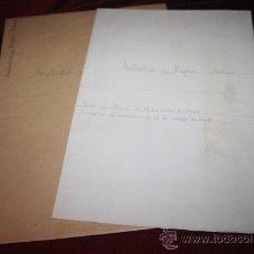 Manuscritos antiguos: CARPETA CON DOCUMENTACIÓN DE ANTONI AULÈSTIA I PIJOAN. PROCEDE DE ARCHIVO PRIVADO. Lote 28887546