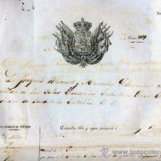 Manuscritos antiguos: DOCUMENTO CONCESION DE PASAPORTE A ESPAÑOL DE GUANCHO CANARIAS , CUBA 1960 , ORIGINAL, K67. Lote 28904673