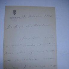 Manuscritos antiguos: CARTA MANUSCRITA DEL SENADOR MARQUES DE AYERBE , JUAN Mª JORDAN DE URRIES 1904 ALCALDE DE ZARAGOZA. Lote 28905377