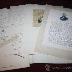 Manuscritos antiguos: CARPETA CON CARTAS Y DOCUMENTACIÓN DE MANUEL TAMAYO Y BAUS. PROCEDENTE DE ARCHIVO PRIVADO. Lote 28923969