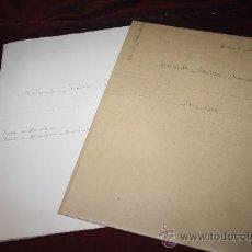 Manuscritos antiguos: CARPETA CON CARTA MANUSCRITA Y DOCUMENTO DE MANUEL DE BOFARULL. PROCEDENTE DE ARCHIVO PRIVADO. Lote 28939898