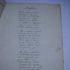 Manuscritos antiguos: POEMA MANUSCRITO Y FIRMADO DEL POETA JOSE ZORRILLA: PROFILAXIS (EL POEMA DEL TÍSICO DE VALLADOLID).. Lote 28972477