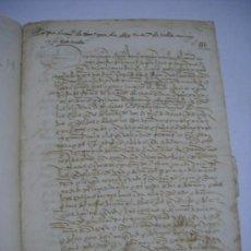 Manuscritos antiguos: MANUSCRITO S. XV (1490). ARRENDAMIENTO DE 2 HEREDADES DE TIERRAS EN LOS TERMINOS DE GALLEGOS. ZAMORA. Lote 36460336