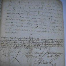 Manuscritos antiguos: MANUSCRITO S. XVI 1568. LICENCIA PARA PONER MONTE DE BERMILLO DE ENCINAS, ROBLES Y OTROS ARBOLES.. Lote 28973057