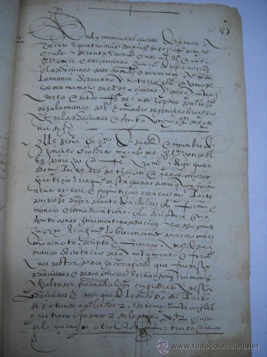 Manuscritos antiguos: MANUSCRITO S. XVI 1568. LICENCIA PARA PONER MONTE DE BERMILLO DE ENCINAS, ROBLES Y OTROS ARBOLES. - Foto 2 - 28973057