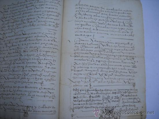 Manuscritos antiguos: MANUSCRITO S. XVI 1568. LICENCIA PARA PONER MONTE DE BERMILLO DE ENCINAS, ROBLES Y OTROS ARBOLES. - Foto 3 - 28973057