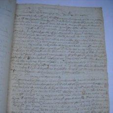 Manuscritos antiguos: MANUSCRITO FIRMADO EN VALLADOLID 1612, TRASLADO DE PETICIONES PRESENTADAS EN PLEITO CONTRA LOS DE. Lote 28973113