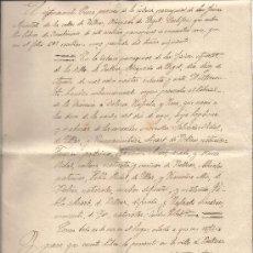 Manuscritos antiguos: CERTIFICADO DE ACTA DE BAUTISMO EXPEDIDO EN BELLVER DE CERDANYA (CATALUÑA) EN 1924. Lote 29540705