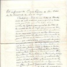 Manuscritos antiguos: CERTIFICADO DE BAUTISMO, PARROQUIA DE SAN ODON (SEO D'URGELL), 1924. Lote 29540764
