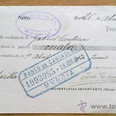 Manuscritos antiguos: E42-DOCUMENTO LIBRILLA CARTAGENA MURCIA 1911 EL LIBERAL. Lote 29809696