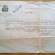 Manuscritos antiguos: E45-DOCUMENTO BANCO CENTRAL MURCIA MADRID LIBRILLA. Lote 29810519