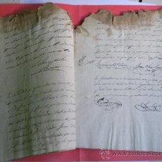 Manuscritos antiguos: MANUSCRITO SOBRE PARTICION BIENES ANTONIO BARROSO MARISCAL EJERCITO NACIONAL GRANADA 1860-61. Lote 29920276