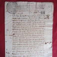 Manuscritos antiguos: ANTIGUO DOCUMENTO 1794 - MANUSCRITO. Lote 30180973