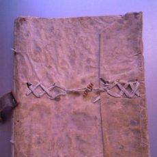 Manuscritos antiguos: ANTIGUO MANUSCRITO CON TAPAS EN PERGAMINO, LIBRO DE CASA Y ASCENSO... 1812-1858. 25X30 CM 52 FOLIOS. Lote 30254502