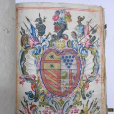 Manuscritos antiguos: REAL EXECUTORIA DE NOBLEZA SOLARIEGA DEL APELLIDO CALVO, MANUSCRITO PERGAMINO 1502-1751 FIRMA REAL. Lote 30387314
