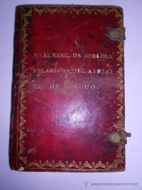 Manuscritos antiguos: REAL EXECUTORIA DE NOBLEZA SOLARIEGA DEL APELLIDO CALVO, Manuscrito pergamino 1502-1751 firma real - Foto 2 - 30387314