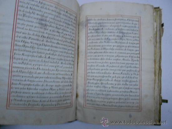 Manuscritos antiguos: REAL EXECUTORIA DE NOBLEZA SOLARIEGA DEL APELLIDO CALVO, Manuscrito pergamino 1502-1751 firma real - Foto 4 - 30387314
