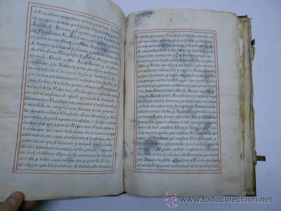 Manuscritos antiguos: REAL EXECUTORIA DE NOBLEZA SOLARIEGA DEL APELLIDO CALVO, Manuscrito pergamino 1502-1751 firma real - Foto 5 - 30387314