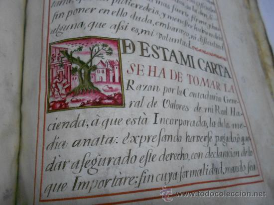 Manuscritos antiguos: REAL EXECUTORIA DE NOBLEZA SOLARIEGA DEL APELLIDO CALVO, Manuscrito pergamino 1502-1751 firma real - Foto 9 - 30387314