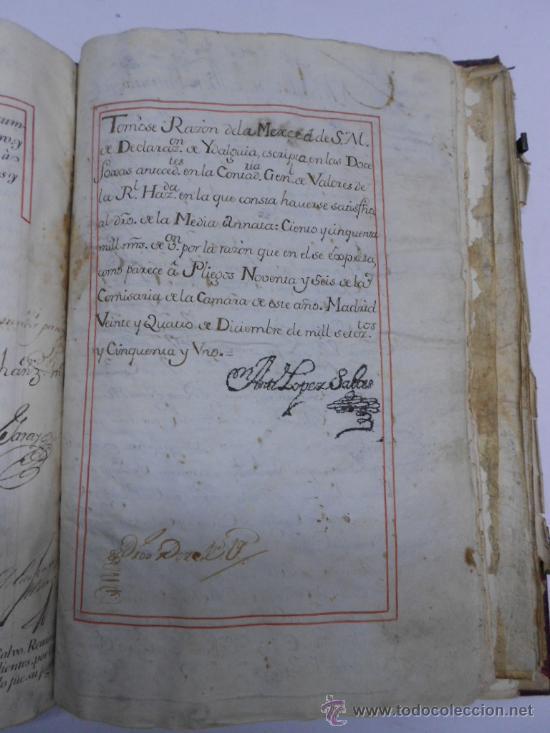 Manuscritos antiguos: REAL EXECUTORIA DE NOBLEZA SOLARIEGA DEL APELLIDO CALVO, Manuscrito pergamino 1502-1751 firma real - Foto 13 - 30387314