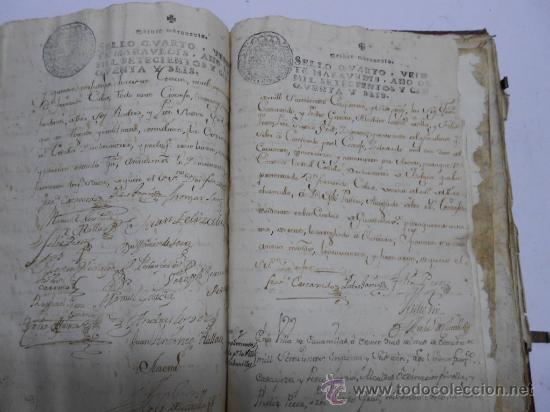 Manuscritos antiguos: REAL EXECUTORIA DE NOBLEZA SOLARIEGA DEL APELLIDO CALVO, Manuscrito pergamino 1502-1751 firma real - Foto 16 - 30387314