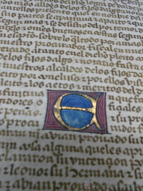 Manuscritos antiguos: REAL EXECUTORIA DE NOBLEZA SOLARIEGA DEL APELLIDO CALVO, Manuscrito pergamino 1502-1751 firma real - Foto 21 - 30387314