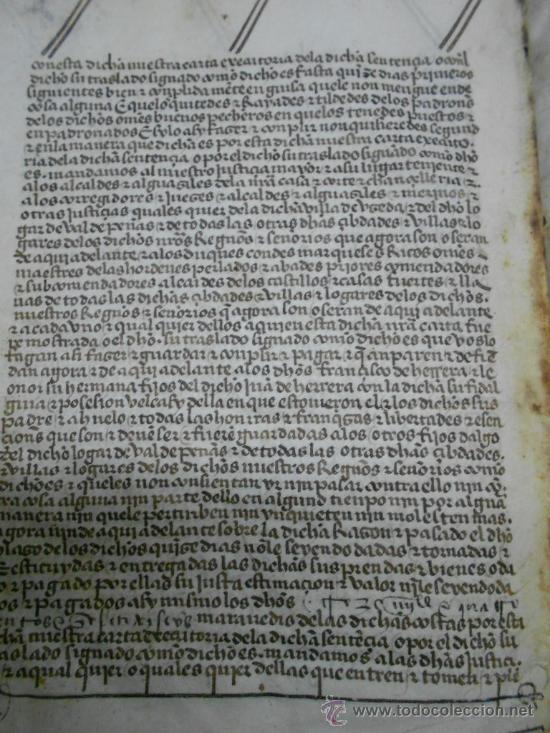 Manuscritos antiguos: REAL EXECUTORIA DE NOBLEZA SOLARIEGA DEL APELLIDO CALVO, Manuscrito pergamino 1502-1751 firma real - Foto 23 - 30387314