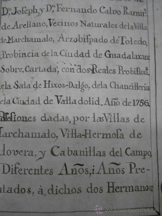 Manuscritos antiguos: REAL EXECUTORIA DE NOBLEZA SOLARIEGA DEL APELLIDO CALVO, Manuscrito pergamino 1502-1751 firma real - Foto 29 - 30387314