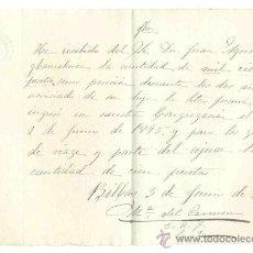 Manuscritos antiguos: MANUSCRITO CARTA DE PAGO 1895 .. PENSIÓN DURANTE DOS AÑOS DE NOVICIADO. Lote 30684273