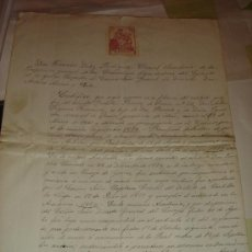 Manuscritos antiguos: CERTIFICADO MILITAR DE UN SOLDADO DE ORENSE \ FIRMA DEL CORONEL Y SELLO DE INSPECCIÓN GENERAL (1910). Lote 30790336